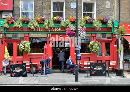 The Barley Mow pub in Dorset Street, Marylebone, London, UK. - Stock Photo