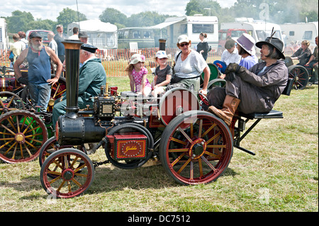 Miniature Burrell steam traction engine at a Steam Fair - Stock Photo