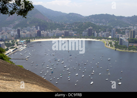 View from the Sugarloaf of Rio de Janeiro, Brazil, February 2013. - Stock Photo