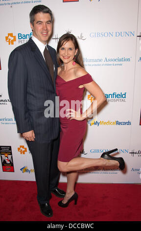 Keith Christian and Kellie Martin The American Humane Association's First Annual Hero Dog Awards at The Beverly - Stock Photo