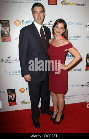 Kellie Martin and husband Keith Christian The American Humane Associations first annual Hero Dog Awards at The Beverly - Stock Photo