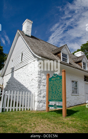 Michigan, Mackinac Island. Historical Site, American Fur Company Store located on this site from 1786-1853. - Stock Photo