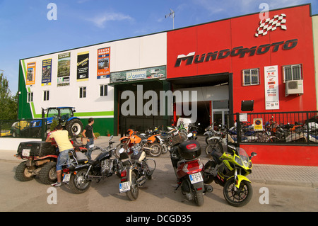 Industrial park, Ubeda, Jaen-province, Region of Andalusia, Spain, Europe - Stock Photo