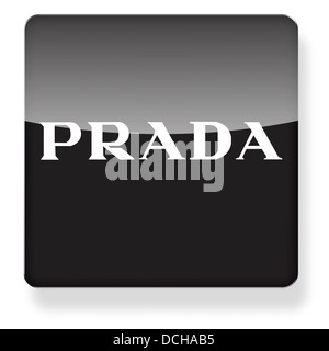 Prada logo as an app icon. Clipping path included. - Stock Photo