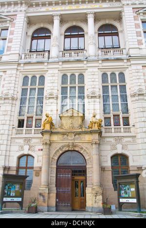 Neo-renaissance style Museum of West Bohemia building Vnitrni Mesto the Old town Plzen Czech Republic Europe - Stock Photo