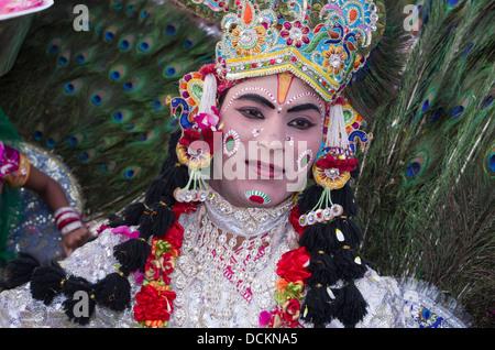 Rajasthani Folk Dancer - Jaipur, Rajasthan, India - Stock Photo