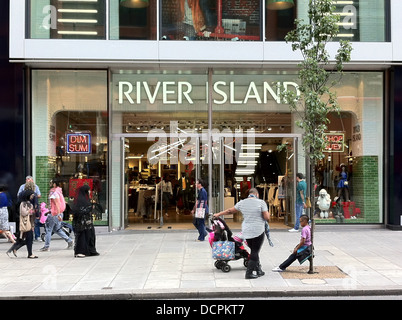 RIVER ISLAND store on Oxford Street, London. Photo Tony Gale - Stock Photo