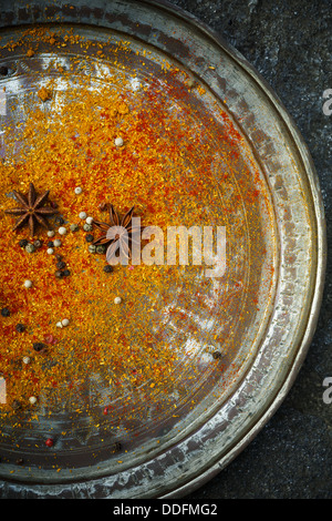 Spices on plate - Stock Photo