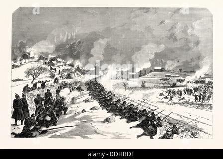 FRANCO-PRUSSIAN WAR: THE BATTLE 1871, BETHANCOURT 1870 - Stock Photo
