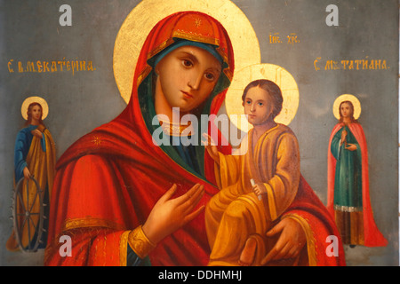 Icon, Nowodewitschi Monastyr or New Novodevichy Convent - Stock Photo