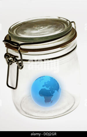 Protecting Earth. - Stock Photo
