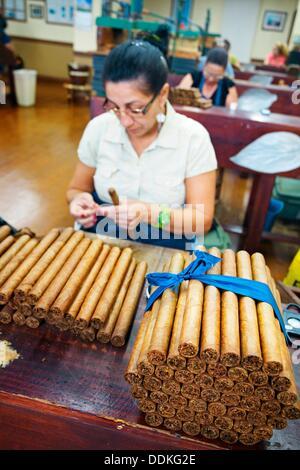 Cigars Factory, Calle Ocho, Little Havana  Miami  Florida  USA - Stock Photo