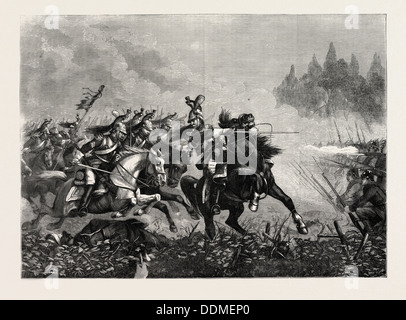 FRANCO-PRUSSIAN WAR: CHARGE OF FRENCH CUIRASSIERS - Stock Photo