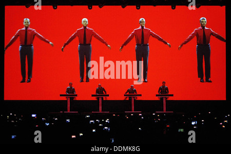 Kraftwerk performs live at the Sonar festival in Barcelona, Spain - Stock Photo