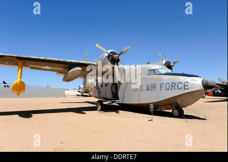 Grumman HU-16A Albatross at Pima Air and Space Museum Tucson Arizona - Stock Photo