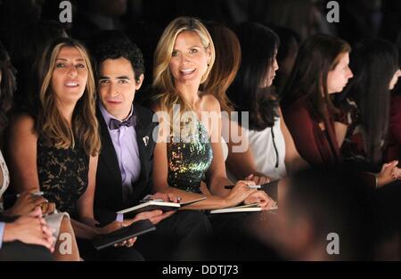 New York, NY. 6th Sep, 2013. Nina Garcia, Zac Posen, Heidi Klum inside for Project Runway Fashion Show, Lincoln - Stock Photo
