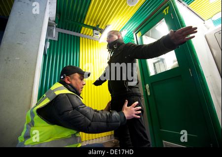 Holland-The Hague. 22-04-2012. Security at soccer stadium of 'Ado den Haag'. Photo: Gerrit de Heus - Stock Photo