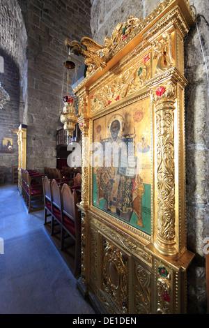 Cyprus, Larnaca, Larnaca, in the Old City, Church of St. Lazaros Church, inside - Stock Photo
