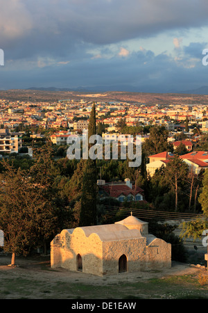 Cyprus, Agios Efstathios in Kolossi Church and overlooking the town of Limassol, Lemesos, Limassol, - Stock Photo