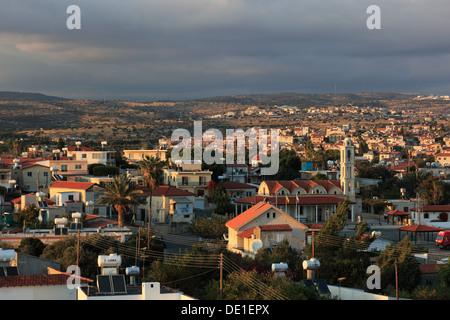 Cyprus, overlooking the town of Limassol, Lemesos, Limassol, - Stock Photo