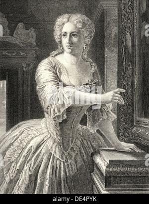 Amalia von Edelreich, Figur aus dem Drama 'Die Räuber', von Johann Christoph Friedrich von Schiller, 1759 - 1805, - Stock Photo