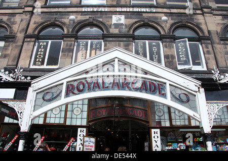 Royal Arcade on Lord Street in the seaside resort of Southport - Stock Photo