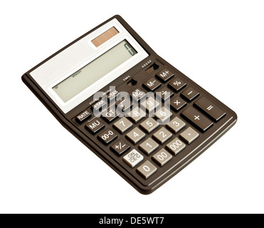 Picture of calculator. Isolated on white background - Stock Photo