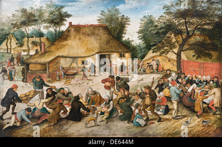 The Peasant Wedding. Artist: Brueghel, Pieter, the Younger (1564-1638) - Stock Photo