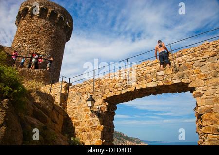 Tossa de Mar, La Selva, Costa Brava, Girona province, Catalonia, Spain. - Stock Photo