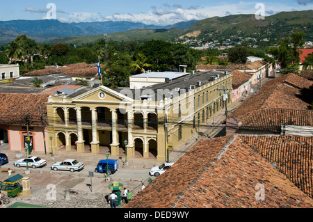 Honduras. Comayagua city. City hall. - Stock Photo