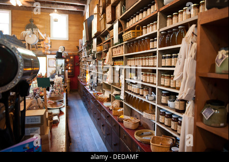 USA New Jersey NJ N.J. Cape May County Historic Cold Spring Village The Country General Store - Stock Photo