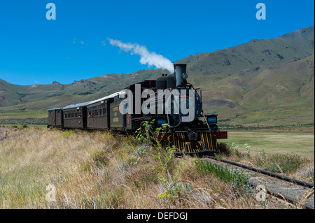 La Trochita, the Old Patagonian Express between Esquel and El Maiten in Chubut Province, Patagonia, Argentina, South - Stock Photo