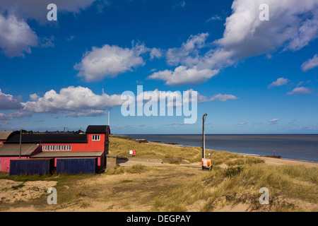 Beach and lifeboat station  Caister on sea - Stock Photo