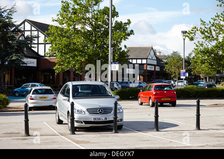 car park at cheshire oaks designer out of town retail discount outlet - Stock Photo
