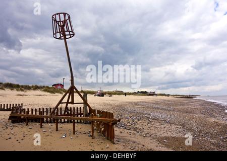 Caister on sea beach Caister-on-Sea Norfolk England UK - Stock Photo