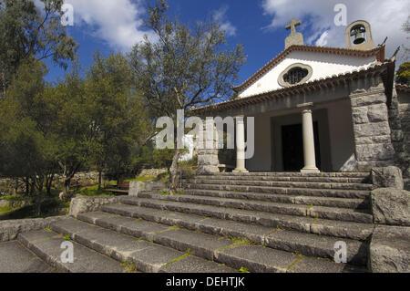 Small church, Caldas de Monchique (´springs of Monchique´), Monchique. Algarve, Portugal - Stock Photo