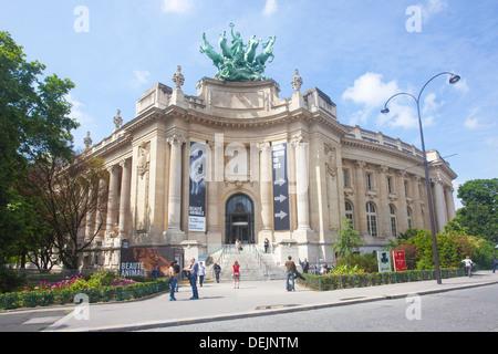 Front Entrance to Le Grand Palais Des Beaux-Arts in The Grand Palais des Champs-Élysées, Paris France - Stock Photo