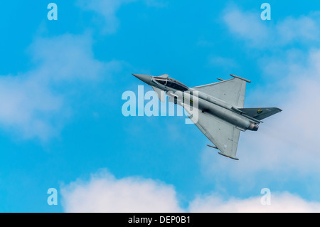 Eurofighter; Typhoon F2; Royal Air Force;Biggin Hill Airshow; Biggin Hill; Kent; England; UK; Europe; - Stock Photo