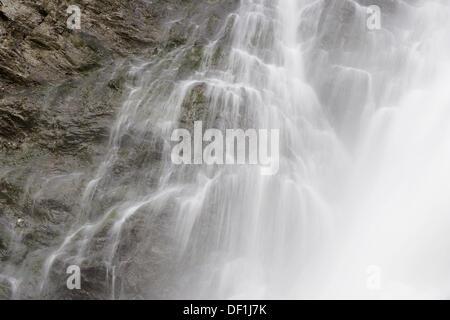 Waterfall. Liechtensteinklamm (Liechtenstein Gorge) near St. Johann. Pongau, Salzburg, Austria / Österreich, Europe. - Stock Photo