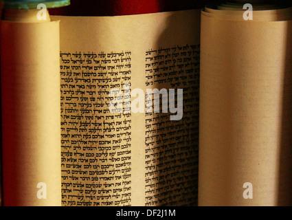 ´Torah´ rolls, Jewish religious texts - Stock Photo
