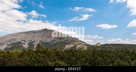 Sniezka, highes peak of Karkonosze in summer. - Stock Photo