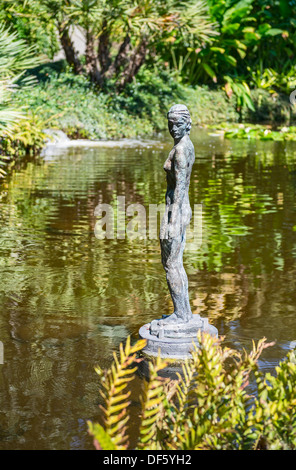 The Junge Frau sculpture at the Huntington Library and Botanical Gardens. - Stock Photo