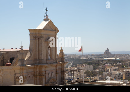 Cathedral of Assumption, Victoria, island Gozo, Malta. - Stock Photo