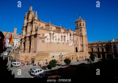 Former Colegiata de San Patricio. Lorca. Murcia province. Spain. - Stock Photo