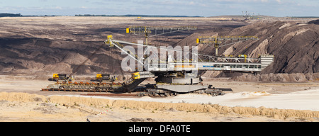 Vattenfall opencast brown coal mine - Welzow Süd, Brandenburg, Germany, Europe - Stock Photo