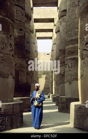 Great Hypostyle Hall in the Precinct of Amun-Re, Karnak Temple Complex, Luxor, Thebes, Egypt, Africa - Stock Photo