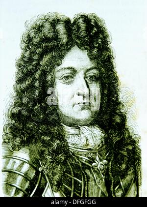 LOUIS XIV 5 September 1638 - 1 September 1715, known as the Sun King French: le Roi Soleil, was King of France and - Stock Photo