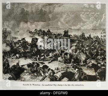 France, History, 19th Century, The Battle of Waterloo was fought on Sunday 18 June 1815 near Waterloo in present - Stock Photo