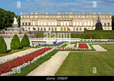Herrenchiemsee Schloss Palace gardens, Herreninsel, Chiemsee Chiemgau, Upper Bavaria Germany - Stock Photo