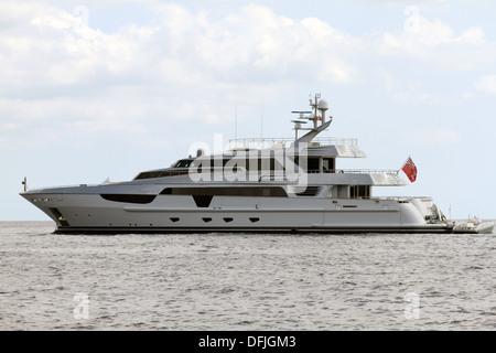 Luxury Motor Yacht - Stock Photo
